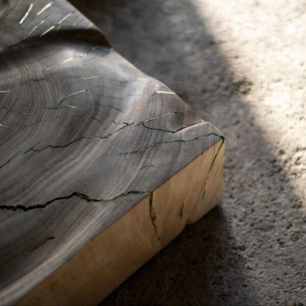 Carré en bois de Peuplier de Provence. Objet de décoration design, originale et unique. Oeuvre sur mesure. Décoration d'intérieur.