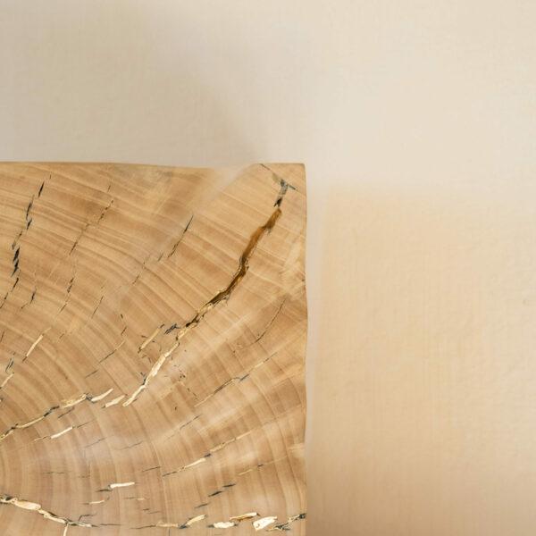 Carré en bois de Peuplier de Provence. Objet de décoration design, originale et unique. Œuvre sur mesure. Décoration d'intérieur.